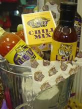 LSU Themed Gift Basket