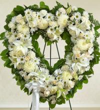 Always Remember Assorted White Floral Heart
